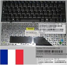 Clavier Azerty Français MSI MSI Wind U100 E1210 MP-08A76F0-359 V022322BK1 Noir