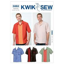 KWIK SEW SEWING PATTERN MEN'S SHIRTS SIZE S - XXL K3484