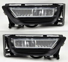 Honda Accord 2013-2015 4dr Sedan Clear Front Glass Fog Lights Pair w/ wiring