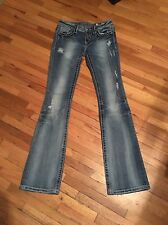 Womens MISS ME IRENE Boot Flap Pocket Jeans DISTRESSED size 25 x 31.5 EXCELLENT