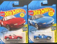 2 Hot Wheels Speed Graphics. '91 Mazda MX-5 Miata. 1-Red&1-Blue. 184/250. L@@K!!