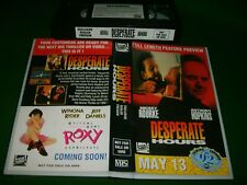 Vhs *DESPERATE HOURS* 1992 Rare (Not For Sale) Fox Video - Dealer Only Edidion