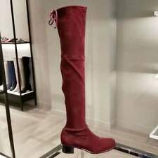 $ 835 Stuart Weitzman Red Suede Over the Knee boots Midland size 6