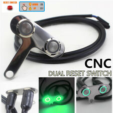 CNC Double Self-reset Motorcycle Handlebar Switch Green Dual Button Waterproof