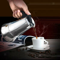 Stainless Steel Stovetop Moka Espresso Coffee Maker Pot Percolator 9 Cup