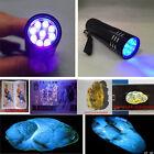 New 9 LED Blue Light UV ULTRA VIOLET BLACKLIGHT Flashlight Lamp money Choice