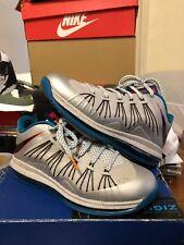 sports shoes 858ce 989b5 NIKE LEBRON 10 X LOW TROPICAL TEAL PLATINUM BLACK AIR MAX 579765-002 MENS 9