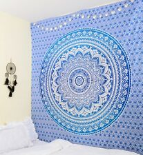 Wall Hanging Ombre Mandala Tapestry Hippie Bedspread Throw Decor Table Cover Du