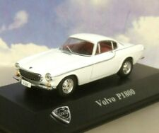 """ATLAS DIECAST 1/43 VOLVO COLLECTION 1966 VOLVO P1800 IN WHITE LIKE """"THE SAINT""""!!"""