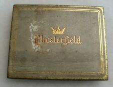 "GREAT WWII OFFICER'S TIN ""CHESTERFIELD"" CIGARETTE CASE 5 3/4"" LONG 4 1/2"" TALL"