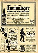 Homburger Elisabeth-Brunnen & Nigrin Schornsteinfeger Schutzmarken Ad 1918