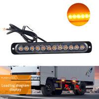 1x 36W Amber 12-LED Bar Ultra Thin Car Truck Strobe Flash Light Strip Side Lamp