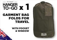 Hanger to Go Garment Clothes Bag Breathable Folds for Easy Travel with Pocket x1