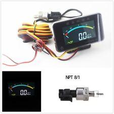 Digital LED LCD Oil Pressure Gauge Meter With NPT8/1 Sensor Thread Accessories