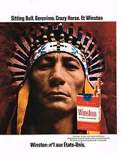 PUBLICITE ADVERTISING  1972   WINSTON  cigarettes