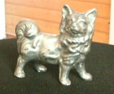 POMERANIAN SPITZ SOLID METAL DOG MODEL DOG ORNAMENT