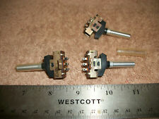 LOT OF 2PDT TOGGLE SWITCHES  OLDER STEREOS