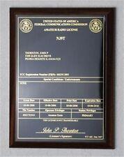 HAM Radio - Amateur Radio License Call Sign Walnut Plaque - *NICE GIFT*