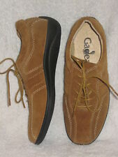 $328 GADEAN Sz 6 Fawn Brown Shoes Cushion-Comfort Wide-Fit Leather Flat Lace-Up