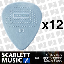 12 X Jim Dunlop Max Grip Nylon 0.60mm .60 Gauge Grey Guitar Picks *TWELVE PICKS*
