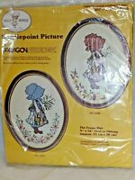Vintage Paragon Needlecraft  #0436 Holly Hobbie Needlepoint Picture NEW
