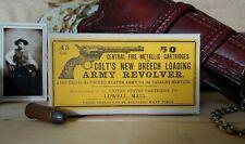 Reproduction vintage US Cartridge Co.  .45 Colt Cartridge Box