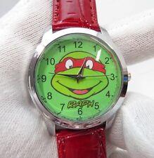 """Nickelodeon,""""RAPH"""" Teenage Mutant Ninja Turtles, MENs KIDs CHARACTER WATCH, 687"""
