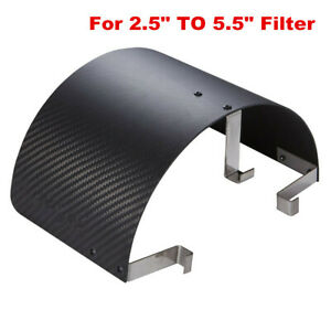 Universal Air Intake Cone Filter Heat Shield Cover Filter Carbon fiber Look