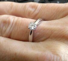 0.38ct VS Diamond Platinum Solitaire Ring 3.86g size J 1/4 PT950