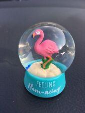 Snow Globe New Pink Flamingo