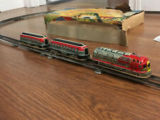 VINTAGE MARUSAN TIN SPARKLING EXPRESS TRAIN W/BOX FULLY WORKING & STILL SPARKS!