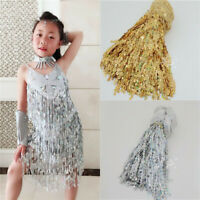 6.5 Yards Sequins Tassel Fringe Trim Gold Silver Latin Samba Dress Sew on Supply