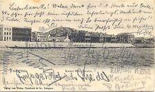 Tsingtau, Kaiser Wilhelmufer, um 1905, versandt an S.M.S. Bremen !, RRR