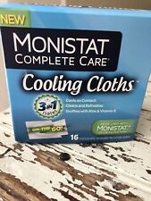 Monistat Complete Care Cooling Cloths 16 Count Nib