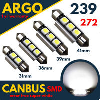 272 239 Car Led Smd Number Plate Festoon C5W Light Bulbs 31mm 36 39 41 Lamps 12v