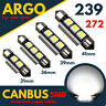 Car Led 239 272 C5W White Number Plate Festoon Light 31 36 39 41 mm Bulbs Lamps