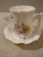 Vintage Shaving Scuttle Mug with pretty flower design