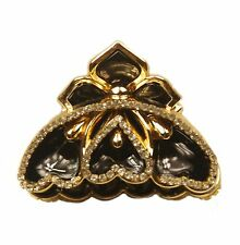 ConMiGo SOH0012 black hairstyling crystal embellished acrylic jaw hair clip