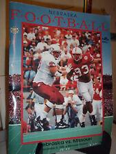 Nebraska Huskers vs Michigan State Game Program Magazine 1996 Memorial Stadium