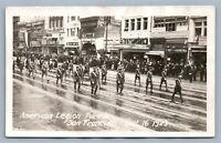 SAN FRANCISCO CA AMERICAN LEGION PARADE 1923 VINTAGE REAL PHOTO POSTCARD RPPC