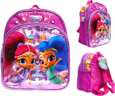 "Disney Shimmer and Shine Mini Backpack 10"" Canvas Girl's Book Bag"