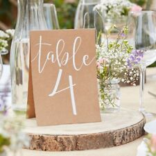 Rustic Country Card Table Numbers 1-12 for Weddings & Parties