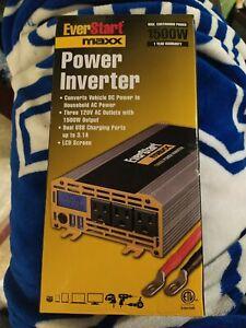 Everstart Maxx 1500 Watt Power Inverter 120v AC Outlets W/ 1500W Output