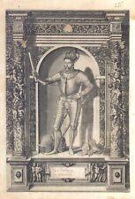 Carl Ersherzog zu Osterreich - Incisione originale G.B. Fontana, D. Custos 1600