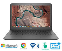 HP Chromebook 14 Laptop AMD 2.2 GHz 4 Memory 32 HD Bluetooth Webcam Touch Screen