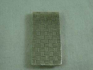John Hardy Woven Design Sterling Silver 925 Money Clip Basket Weave