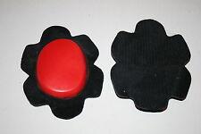 Motorcycle street bike leather pants or suit knee pucks red with grip side