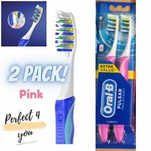 Oral-B Pulsar Pro-Expert Medium Twin Pack Pink Genuine NEW Free UK Shipping