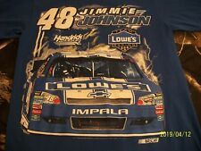NASCAR JIMMY JOHNSON LOWE'S BLUE 2 SIDED T-SHIRT - ADULT (M) EUC