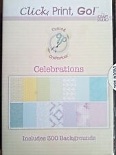 New Click Print Go Celebrations Backgrounds CD ROM Cardmaking Scrapbooking Home